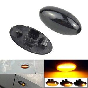 Image 2 - Sıralı yanıp sönen LED dönüş sinyali yan işaretleyici ışık Citroen C1 C2 C3 C5 C6 Jumpy Peugeot 307 206 için 207 407 107