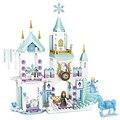 Серия друзей 7008 Принцесса Эльза лед игровая площадка Замок Набор для дома фильмы DIY строительный блок рождественские подарки игрушки для де...