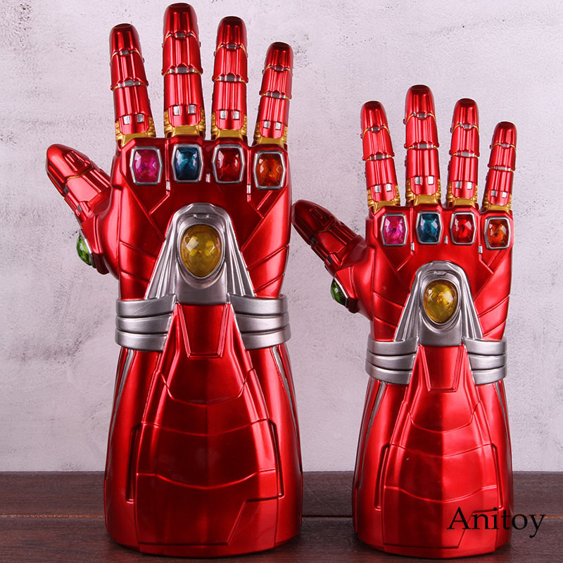 Avengers Endgame Iron Man Nano Gauntlet Infinity Glove 2 Size PVC Action Figure Collectible Model Cosplay Toy With LED Light 1