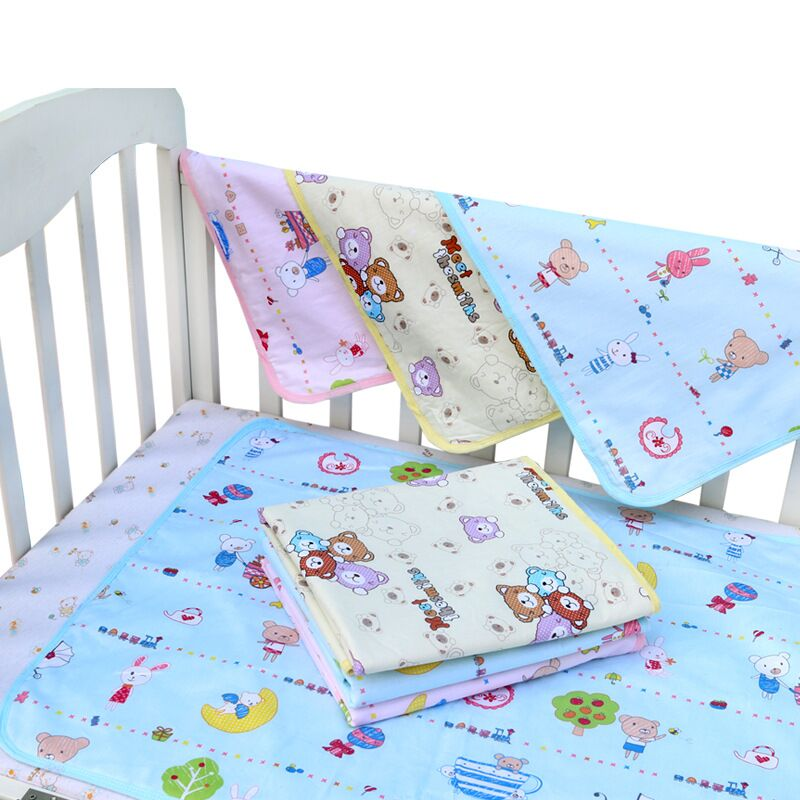Baby Diaper Changing Pad Cotton 3 Layers Waterproof Washable Nappy Liners Mats Stroller Mattress Portable Bedding Changing Mats