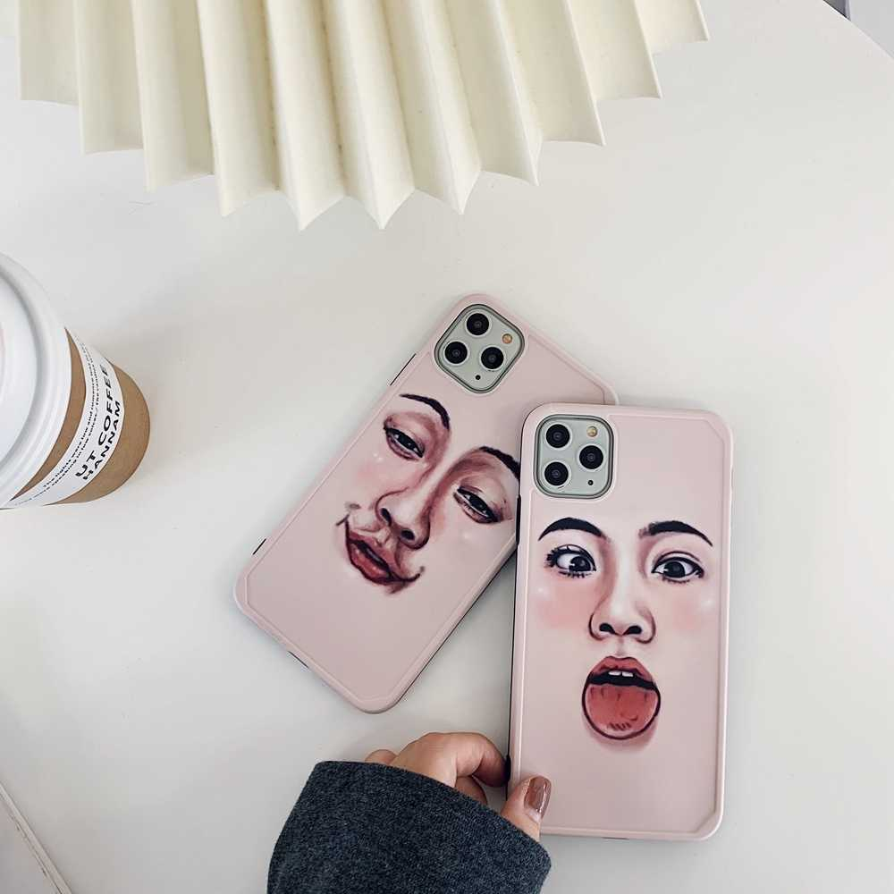 Fashion Artistic Eapression Case For iPhone 11 Pro Max Xs Max Xs Xr X 7 8 Plus 11 Pro IMD Cover Case For iPhone 11 8 7 X Xs Xr