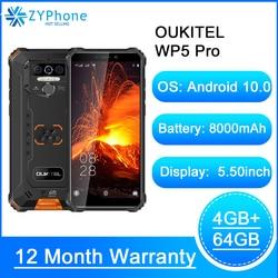 Водонепроницаемый смартфон IP68, 5,5 дюйма, 4 + 64 ГБ, 8000 мА ч, Android 10, тройная камера