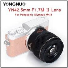YONGNUO YN42.5mm F1.7M II Auto Focus Camera Lens For Panasonic Olympus M4/3 mount Mirrorless Camera 42.5mm F1.7 Lens