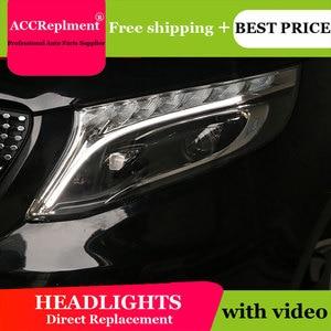 Image 4 - לנץ Metris 2016 2019 פנסים כל LED פנס DRL דינמי אות Hid ראש מנורת Bi קסנון קרן אבזרים רכב סטיילינג