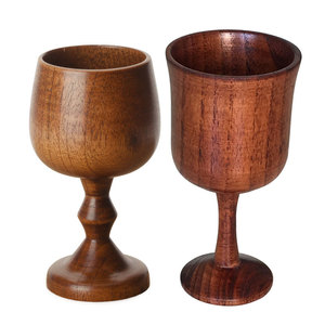 Healthy Wooden Coffee Mug Elegant Classic Wine Grape Drinking Cups Hand-made Wood Mug Vintage Goblet Chalice souvenir cup(China)