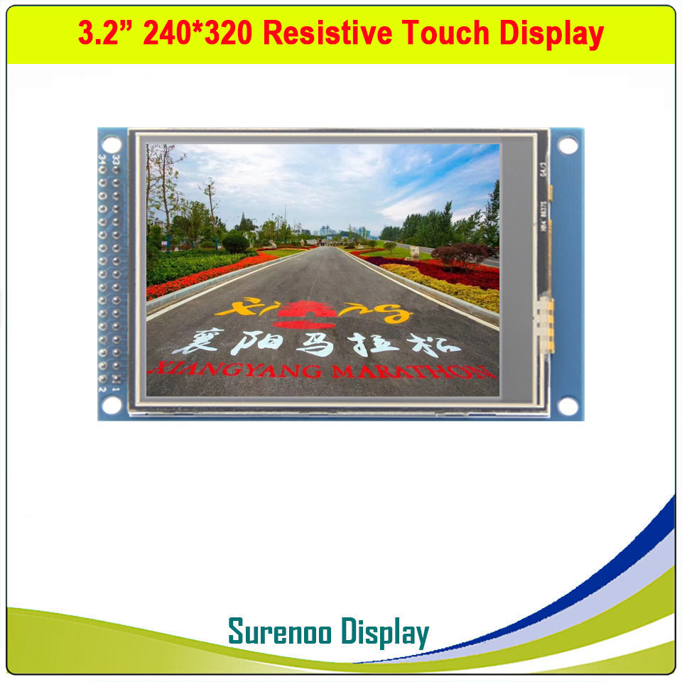<font><b>3.2</b></font> inch 240*320 <font><b>TFT</b></font> <font><b>LCD</b></font> Module Display <font><b>Screen</b></font> with <font><b>Touch</b></font> Panel Drive IC ILI9341 XPT2046 PCB Adpater Parallel Interface image