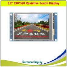 3.2 cal 240*320 TFT wyświetlacz z modułem lcd z panelem dotykowym napęd IC ILI9341 XPT2046 PCB Adpater interfejs równoległy