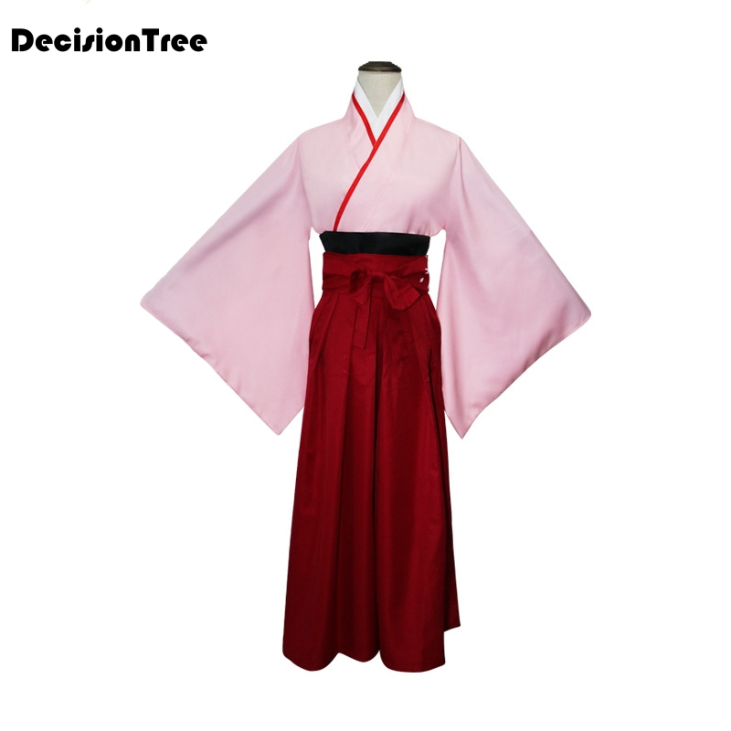 2019 Anime Fate Saber Girl Cosplay Costume Traditional Japanese Lady Shirt+skirt Kimono Suit Novelty Dress Stage Performance Rob