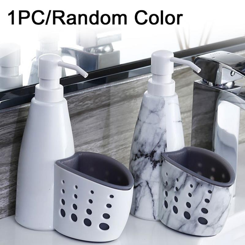 2 in 1 Multifunction Kitchen Bathroom Liquid Detergent Storage Bottle Rack Cleaning Sponge Drainboard Soap Holder Storage Tools image