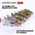 Лидер продаж  12 см  рыболовная приманка  Мульти соединенная жесткая приманка  Реалистичная  шарнирная  воблеры  погружающаяся  Swimbait  рыболов...