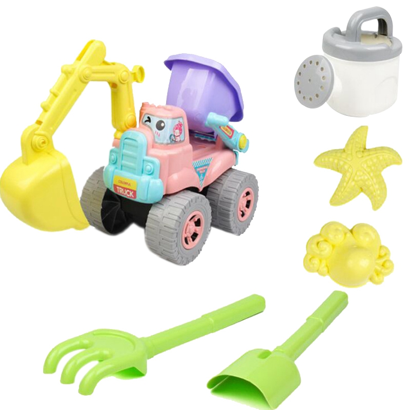 Beach Toy 6 Piece Set Children Play Sand Water Digging Tools Swiming Pool Foldable Summer