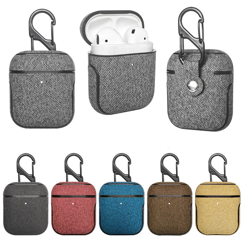 Business Cover For Apple Airpods Case Earphone Accessories Wireless Bluetooth Cover PU Leather For iPhone Airpods 2 Case Bag