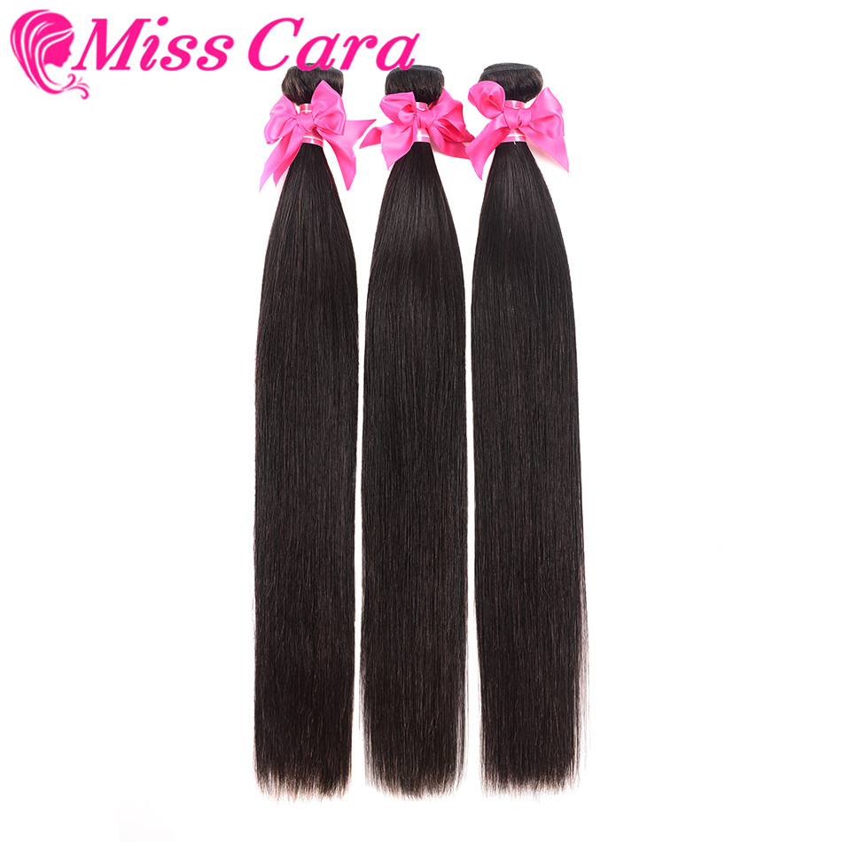 3 Pieces/ Lot Brazilian Straight Hair 3 Bundles 100% Human Hair Weave Bundles Miss Cara Remy Hair Extensions Can Be Dyed