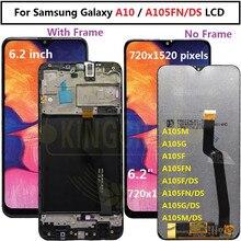 Per Samsung galaxy A10 digitalizzatore lcd A105/DS A105F A105FD A105M Display Touch Screen con digitalizzatore di cornici per Samsung A10 lcd