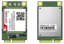 SIMCOM SIM7600G SIM7600G-H Mini Pcie LTE-FDD LTE Cat4 para 850/900/1800/1900MHz B1/B2/B3/B4/B5/B7/B8/B12/B13/B18