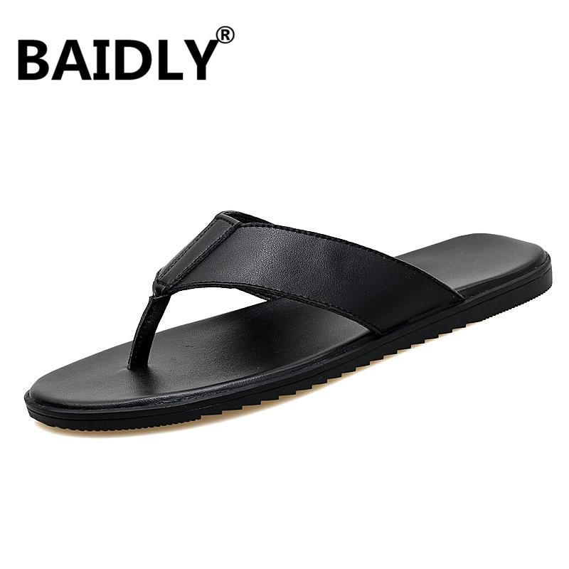 Brand Summer Beach Flip Flops Men Pu