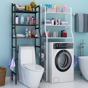 Thicken Stainless Steel Rack Toilet Cabinet Shelving Kitchen Washing Machine Rack Bathroom Space-saving Shelf clean Finish Hold
