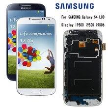 Tela de reposição para samsung galaxy s4, display lcd, com moldura, touch screen, digitalizador, substituição, i9505, i9500, i9506, i337