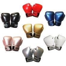 Guantes de boxeo profesionales para niños, 1 par, malla transpirable, cuero PU, llama, MMA Sanda, equipo de entrenamiento de boxeo