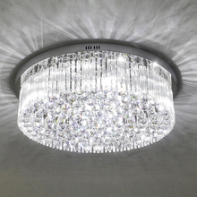 Living room lights crystal lamps round ceiling lamps modern simple bedroom lights warm hall lights restaurant lights lamps led cheap GANENJIEAIXIN 15~20 30square meters Kitchen Dining room Bed Room Foyer Study Bathroom 90-260V iron Touch On Off Switch