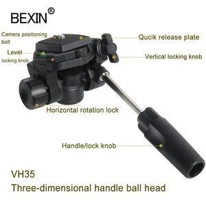 Image 5 - Bexin Ball Head Universele Drie Dimensionale Vloeistof Handheld Video Schieten Panoramische Statiefkop Voor Dslr Camera Monopod Statief