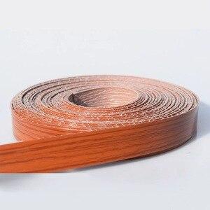 Image 5 - 10M Self adhesive Möbel Holz Furnier Dekorative Rand Banding PVC für Möbel Schrank Büro Tisch Holz Oberfläche Kanten