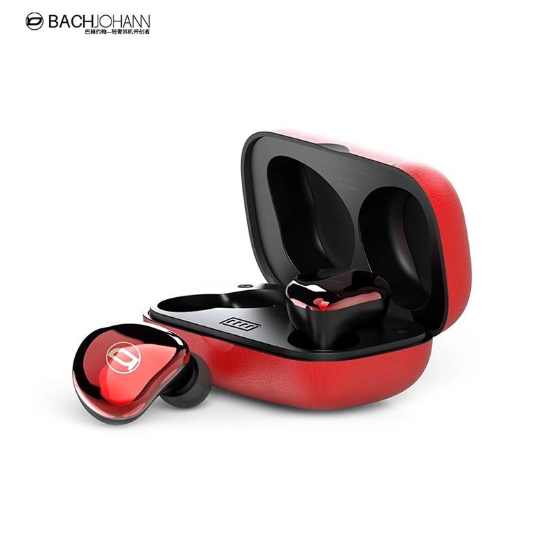 BachJohann T7 Bluetooth 5.0 TWS Ture Wireless Sports Bass Earbuds Handsfree Call earphones with Mic earbud for Earphone