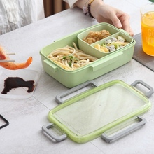 Portable Food Box Leak proof Lunch Microwave Bento with Snap Button Separate Kitchen Accessories