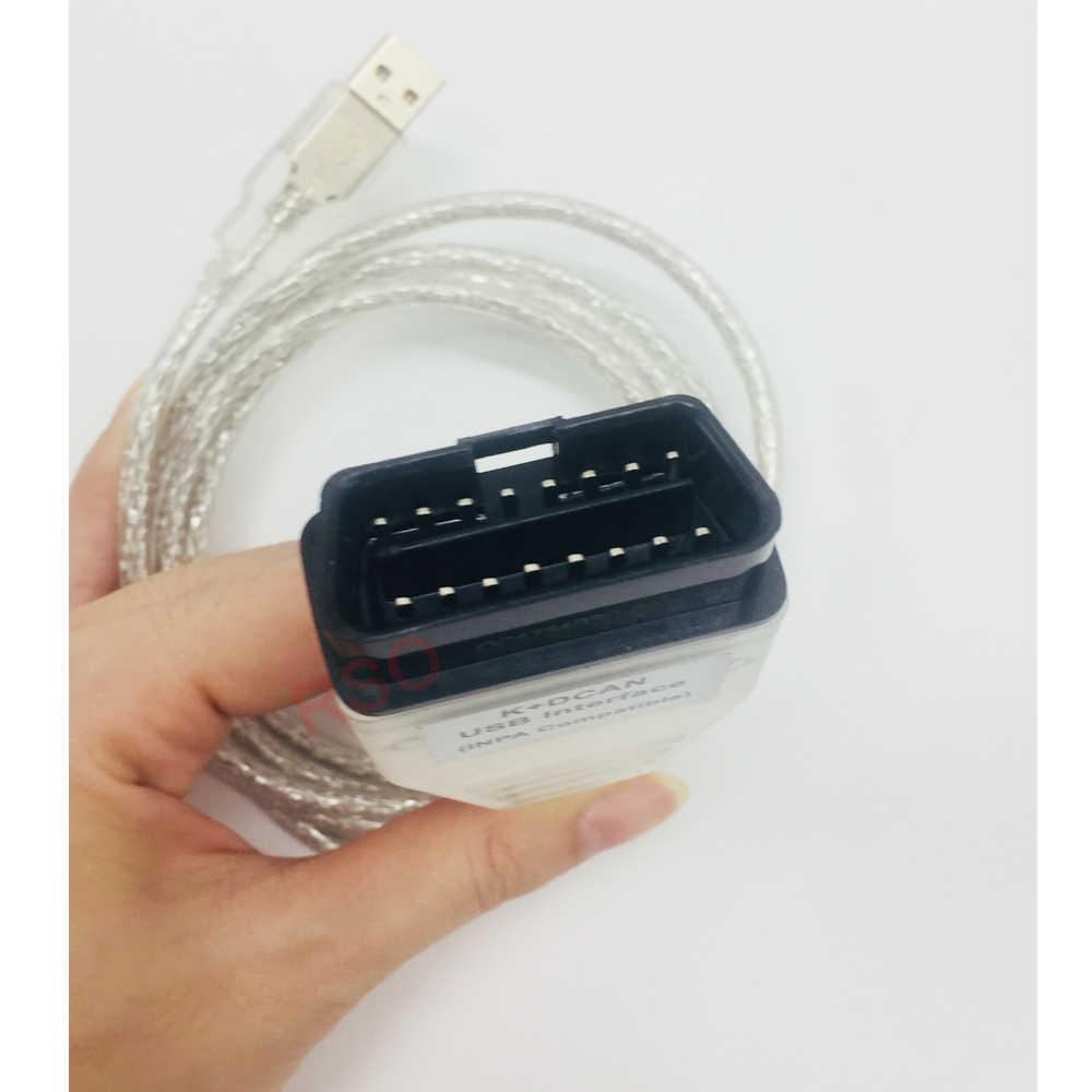 OBD arayüzü INPA K CAN kablosu BMW profesyonel tarayıcı okuyucu INPA teşhis aracı KCAN ile FT232RL yeşil PCB