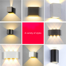Waterproof Modern Wall Lamp Square Bedside Lamp Hotel Corridor Aisle Door Stair Lamp Ultra-Thin Wall Lamp up and down Spotlight