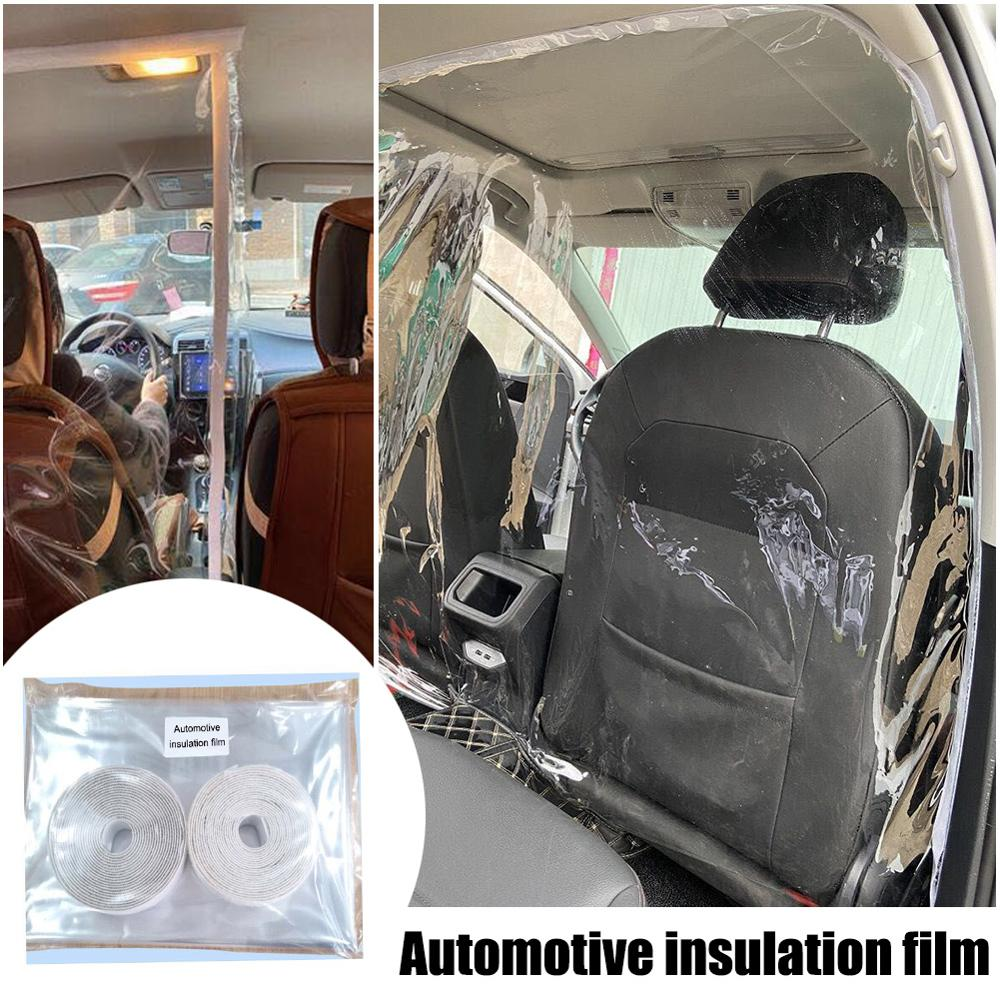 New Transparent Car Anti Droplets Proof Isolation Screen PVC Protection Film Curtain For <font><b>Uber</b></font> Taxi Driver Passenger Car Interior image