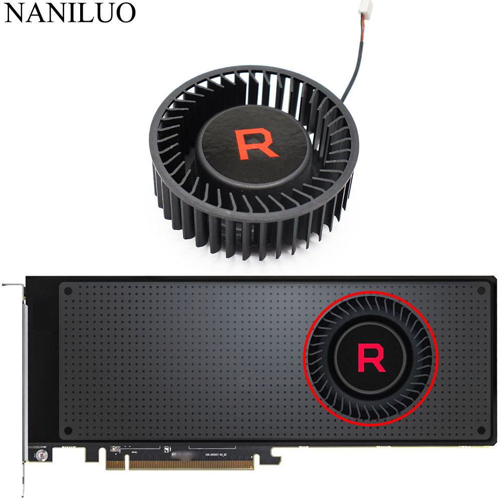 BFB1012SHA01 BV5 RX VEGA56 VEGA64 Cooler Fan For AMD XFX Radeon RX VEGA 64 56 SILVER Graphics Card Fan