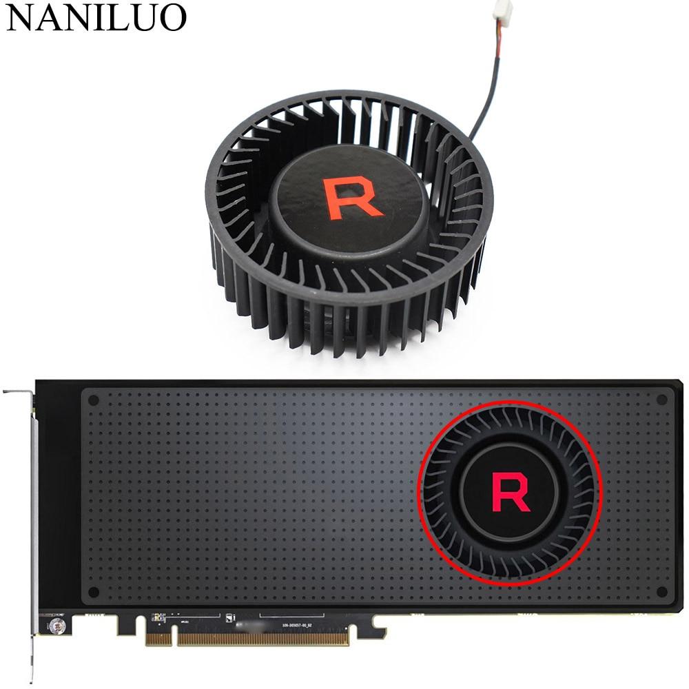 Вентилятор охлаждения BFB1012SHA01 BV5 RX VEGA56 VEGA64 для AMD XFX Radeon RX VEGA 64 56, серебристый вентилятор видеокарты