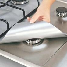 Gas Stove Protectors Burner-Covers Kitchen-Mat Cleaning-Pad Reusable 4pcs