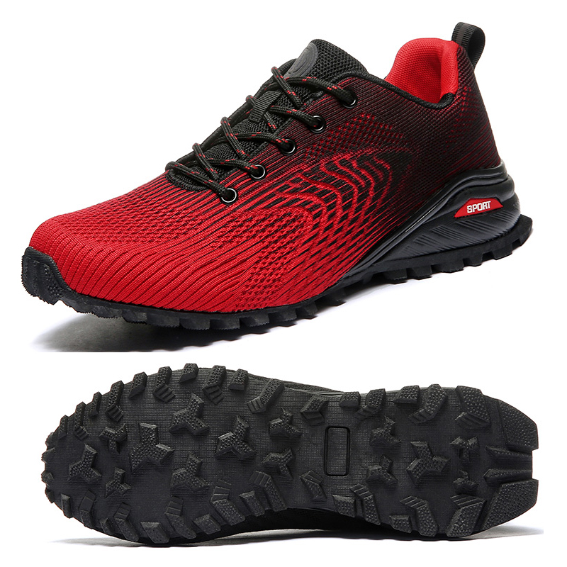 Men Spring Summer Golf Shoes Breathable Outdoor Athletic Sport Shoes Mens Golf Sneakers Black Red Big Size Golf Trainers For Men