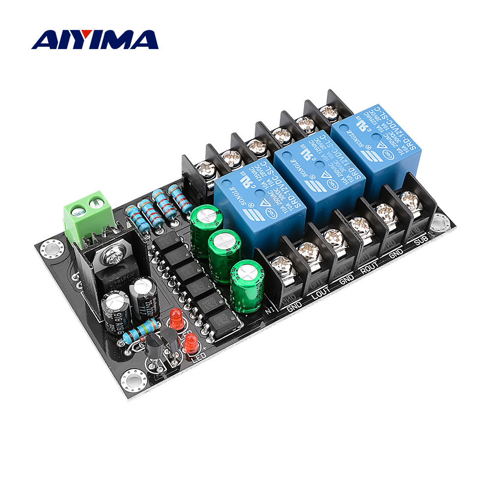 AIYIMA 300W Digital Amplifier Speaker Protection Board 2.1 Channel Relay Speaker Protection Module Boot Delay DC Protect|Amplifier| |  - title=