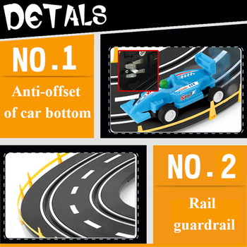 1:43 Electric Track Railway Toys Slot Car Set Autorama Circuit Voiture Double Remote Control Racing Track For Boy Children Gift