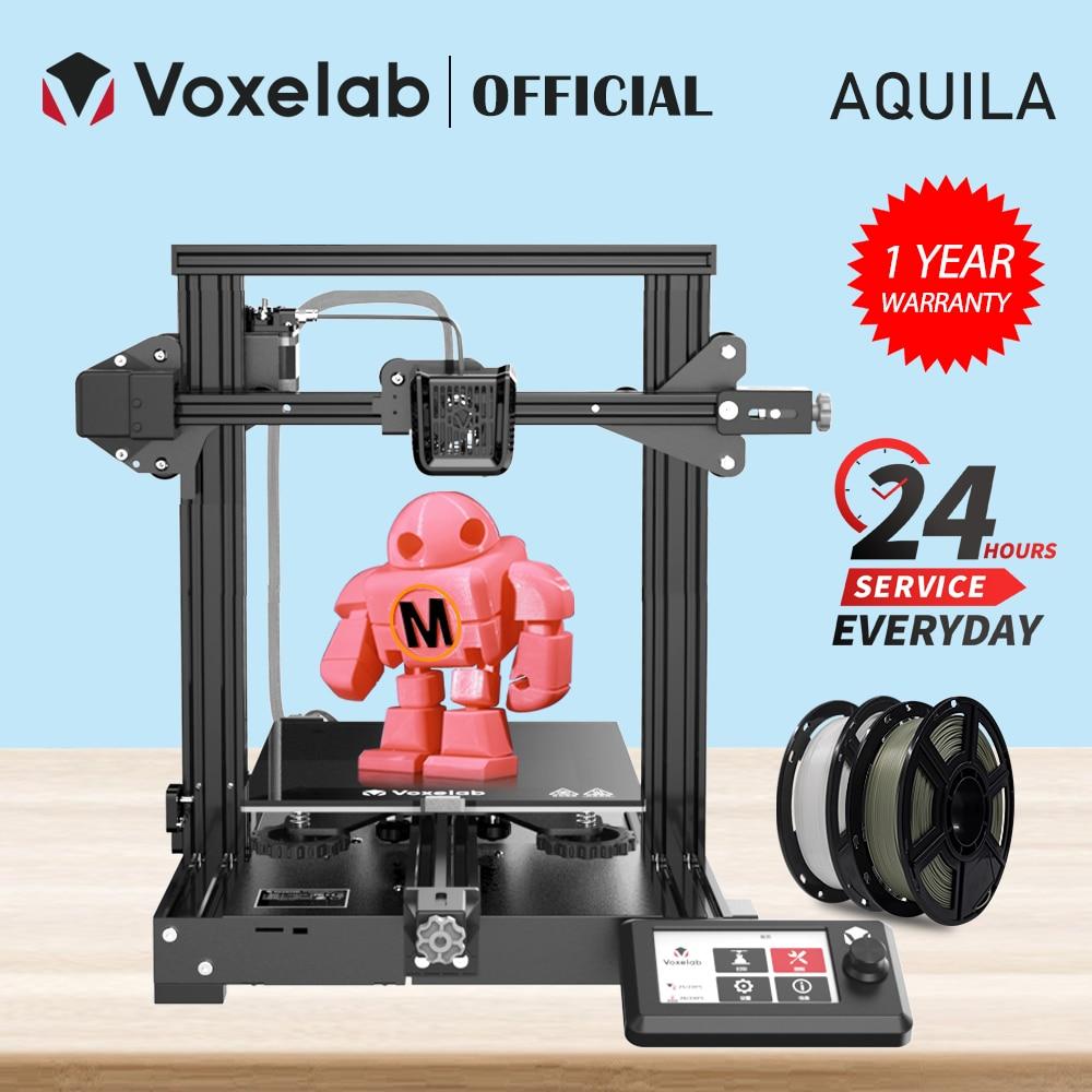 Набор для 3D-принтера Voxelab Aquila, бесшумная материнская плата, возобновление печати при сбоях питания, стеклянный карборунд, большой размер, 3D-п...