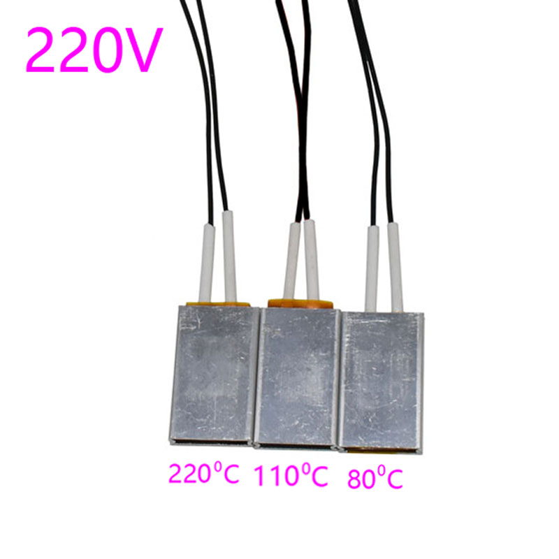 2 pcs Heating Element Hair Dryer Accessories Curlers Heater 80-220 Degrees Celsius Ptc Heaters 220V Applicable Miniature Heating