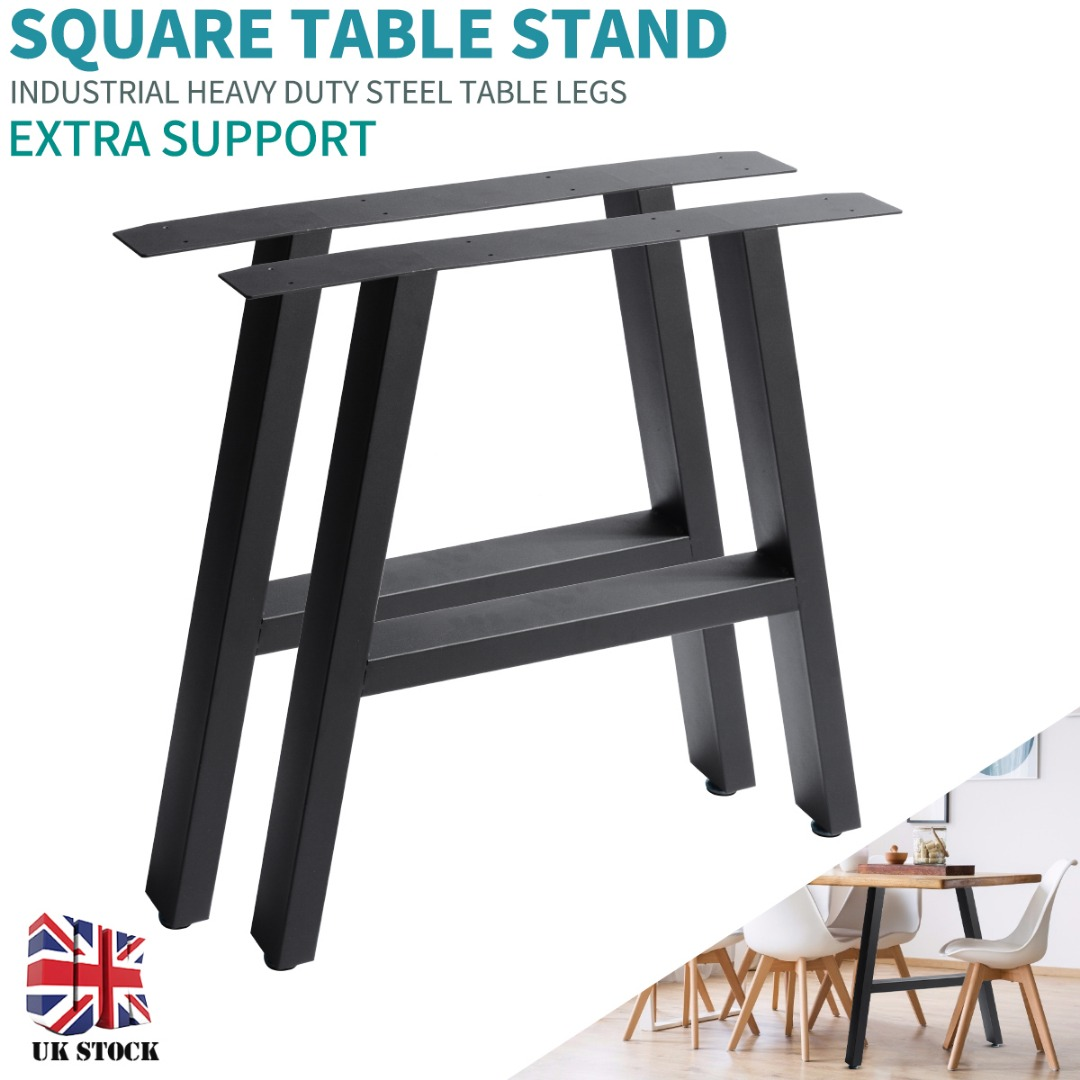 New 2pcs Industrial Style A-Frame Table Legs For Dining Benches Office Desks Household Trapezoid Table Legs L70*H72cm /L40*H35cm