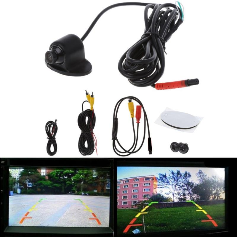 360° Car Rear View Camera Wide Degree Color Image  Waterproof Night Vision Reversing Backup 2In1 Parking Reve HD CCD CMOS