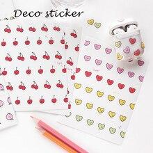 6 видов фруктовый Vita серии Матовый ПВХ наклейки для скрапбукинга DIY альбом дневник Happy planner телефон декоративные наклейки