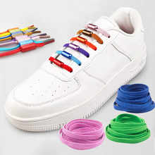 Shoe-Laces Semicircle Strings Yarn Lazy-Shoe Metal-Lock No-Tie Elastic 1M High-Stretch