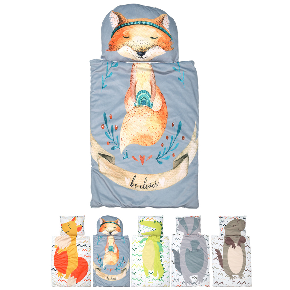 Cotton Warm Baby Sleeping Bag Sleepsack Autumn Winter 95*70cm Baby Slaapzak With Pillow Soft Sleeping Bags Winter For Stroller