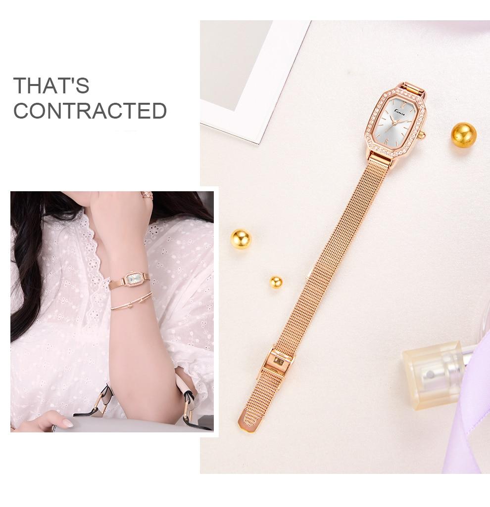 senhoras rosa ouro prata relógio feminino quartzo