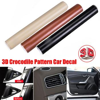 Leather Pattern PVC Adhesive Vinyl Film Stickers Change Color Decal Vinyl Wrap For Car Motorcycle Interior Decoration image