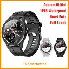 2020 חדש T6 חכם שעון IP68 Waterproof אישית UI קצב לב צג שינה קילומטראז דם לחץ מעורר Vs DT78 SmartWatch גברים