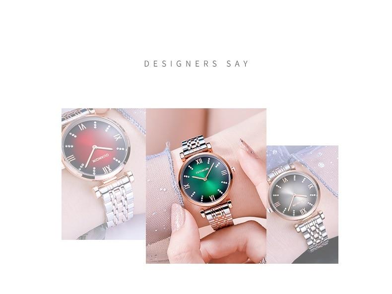 Woman Watch 2019 GUANQIN GS19122 Quartz Luxury Brand Ladies Watch Green Waterproof Simple Fashion Wrist Watch Tool Dropshipping (2)