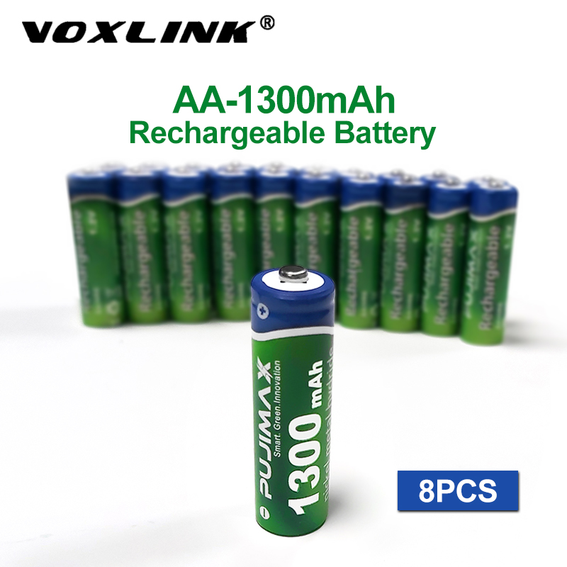 VOXLINK <font><b>Battery</b></font> <font><b>AA</b></font> <font><b>1300mAh</b></font> <font><b>1.2V</b></font> 8PCS <font><b>rechargeable</b></font> <font><b>battery</b></font> pre-charged recharge ni mh <font><b>rechargeable</b></font> <font><b>battery</b></font> For camera microphone image