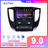 Tesla styel Android 9 Car DVD player GPS Navigation For Mitsubishi Triton L200 2007+ Radio multimedia palyer head unit recorder